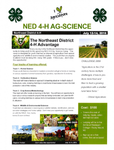 Cover photo for NED Ag-Science Campers Needed!