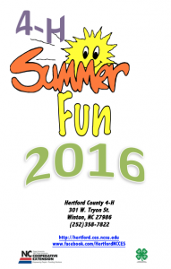 Cover photo for 2016 4-H Summer Fun Sign Up