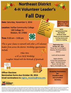 4-H Volunteer Leader's Fall Day