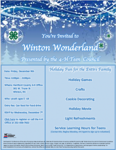Cover photo for 4-H Winton Wonderland