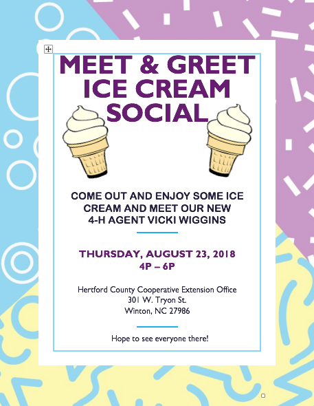 Ice Cream Social flyer image