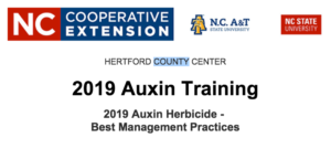2019 Auxin Training