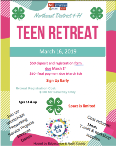 Teen Retreat Flyer