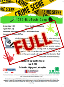 Cover photo for NED: CSI Science Camp 2019