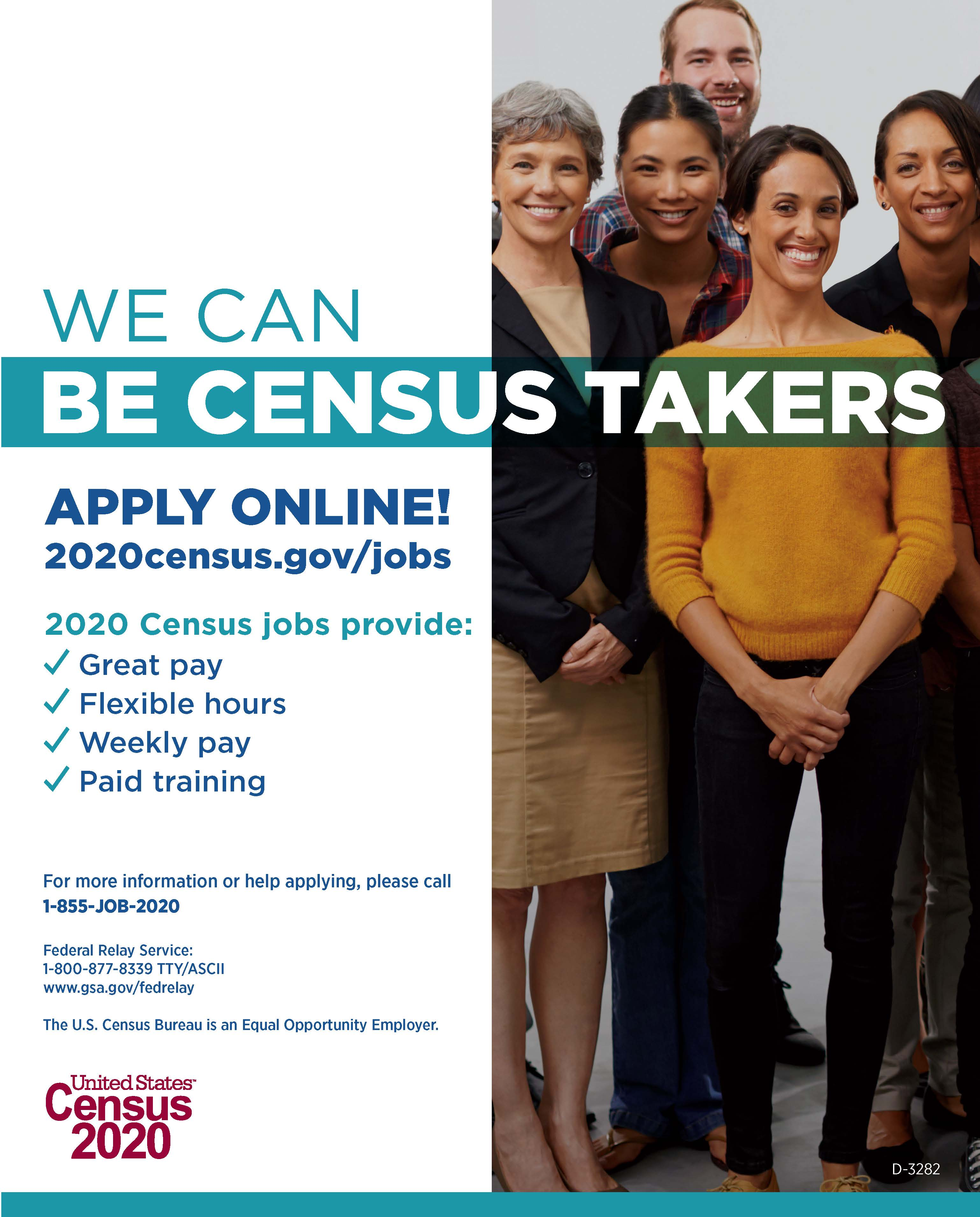 2020 US CENSUS TAKER POSTER