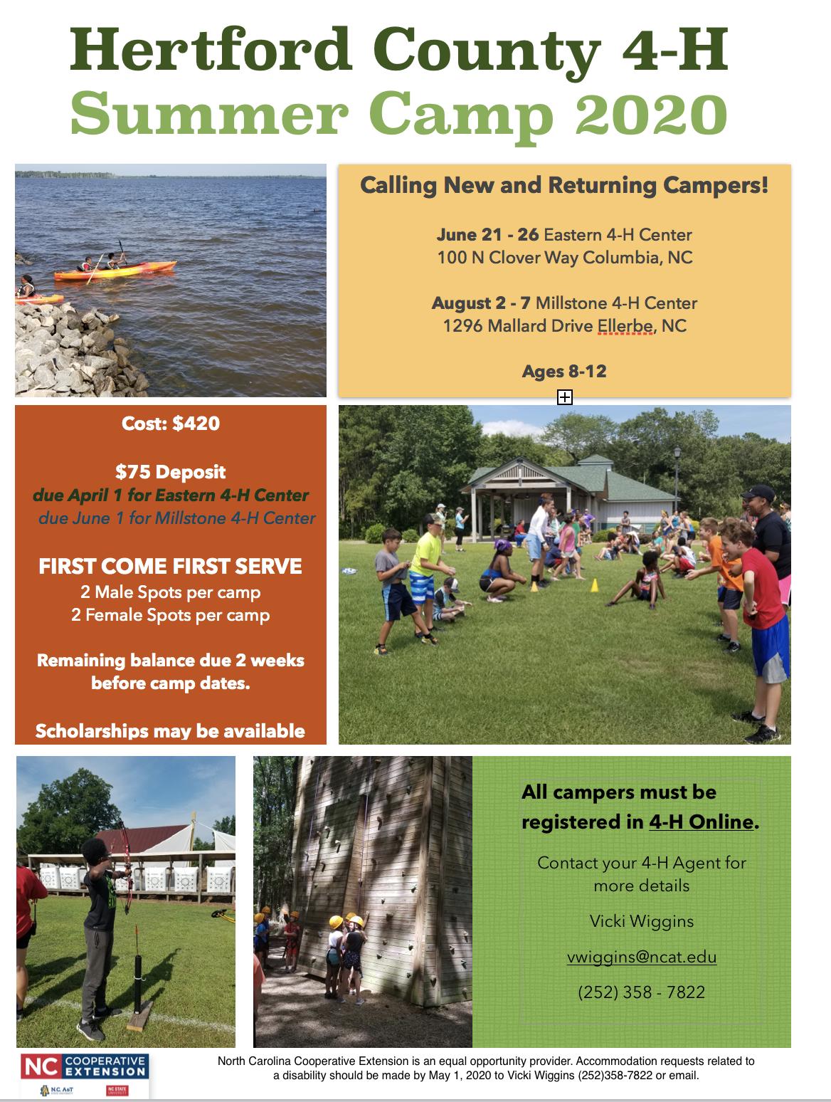 4-H Summer Camp flyer image