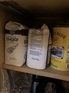 Stored products susceptible to pantry pest invasion.