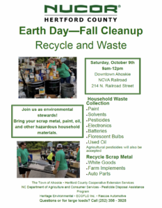 Cover photo for Fall Cleanup - Recycle and Waste Collection